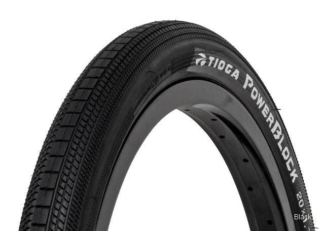 "TIOGA POWERBLOCK 20x1.4/"" Power Block BMX tire BLACK"