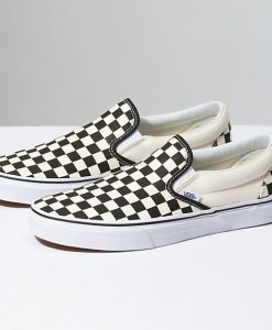 ... Vans Checkerboard Slip - On - Black   Off White Check - Size 9.5   ... 31ff4ce80