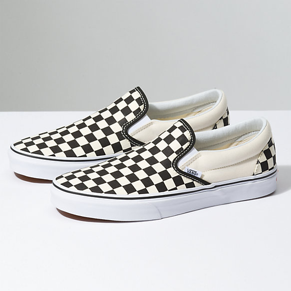 Vans Checkerboard Slip - On - Black   Off White Check - Size 9 ... 191fd9363