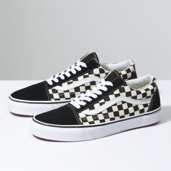 f3ccc6135498 Vans Primary Check Old School Shoes - Black   White - Size 10 - Sams BMX